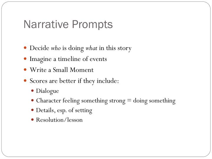 Narrative Prompts