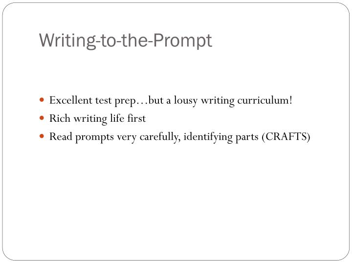 Writing-to-the-Prompt