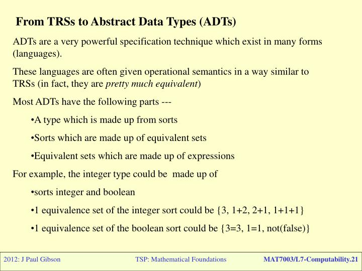 From TRSs to Abstract Data Types (ADTs)