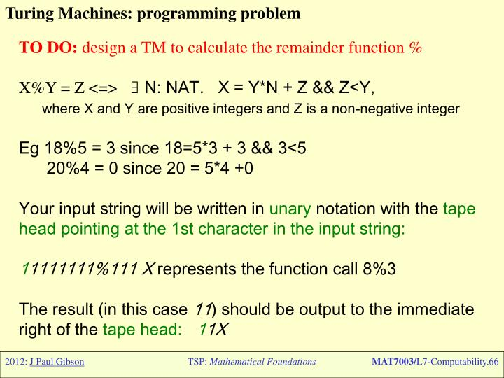 Turing Machines: programming problem