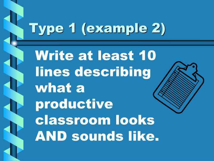 Type 1 (