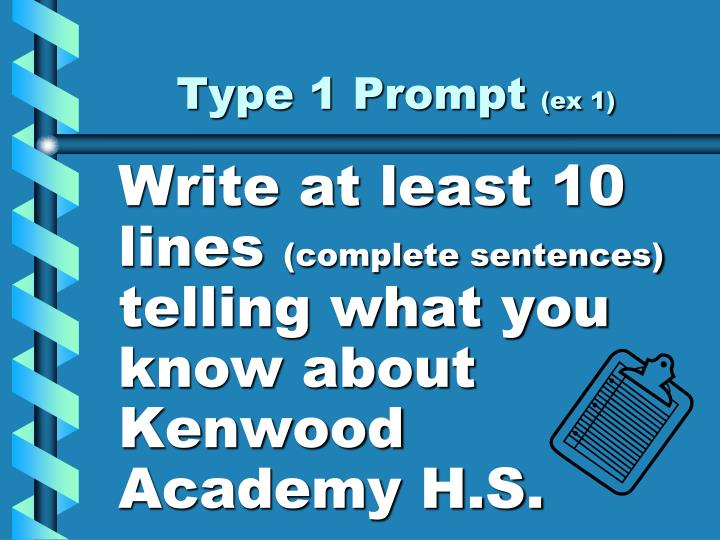 Type 1 Prompt