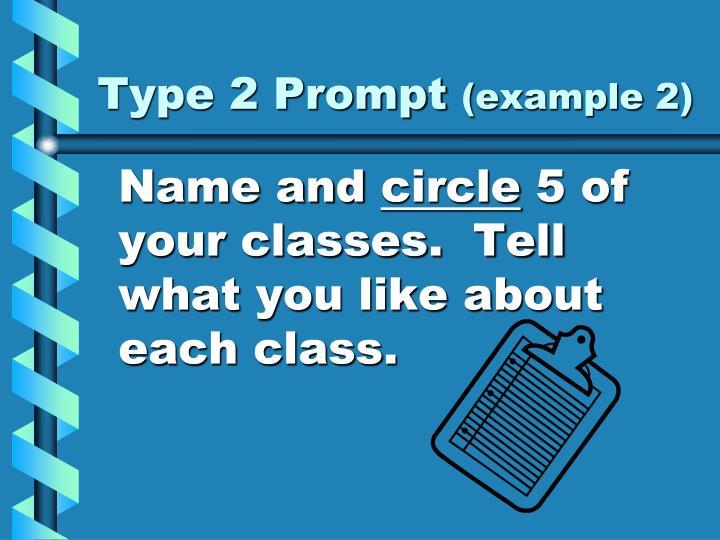 Type 2 Prompt
