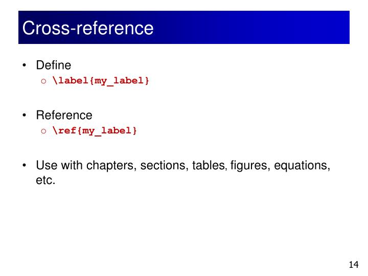 Cross-reference