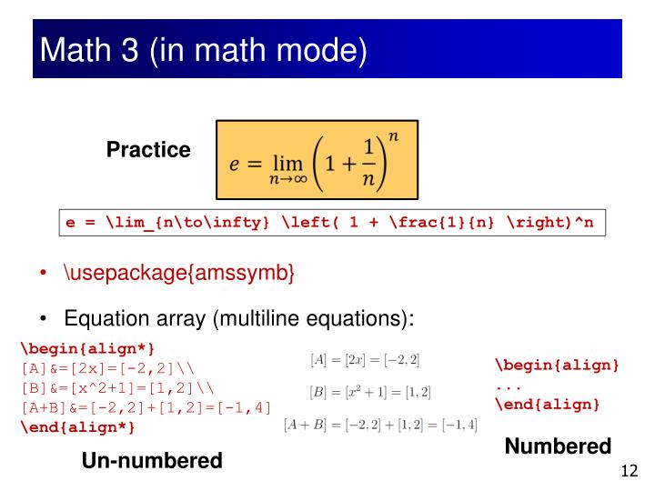 Math 3 (in math mode)