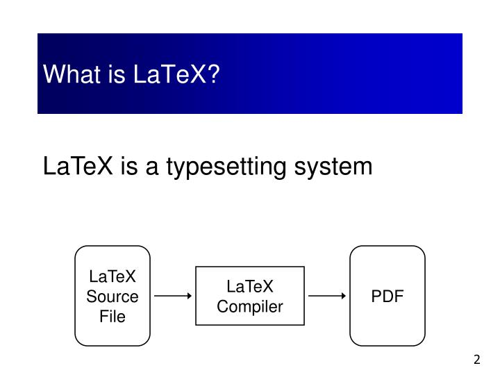 What is LaTeX?