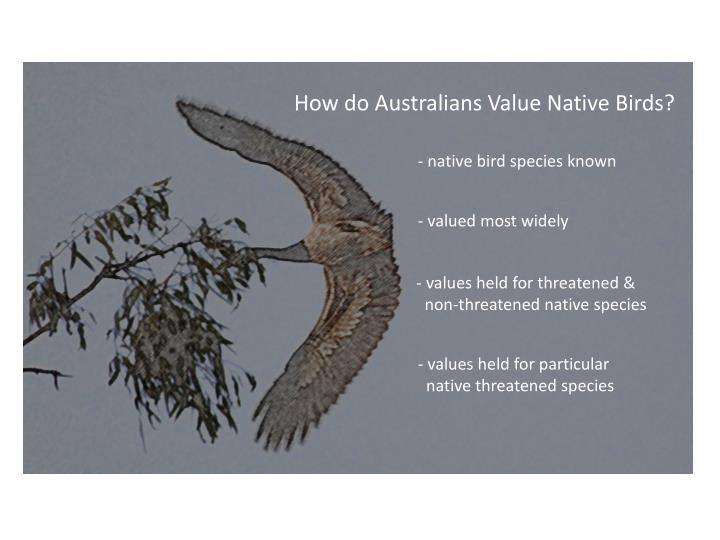 How do Australians Value Native Birds?