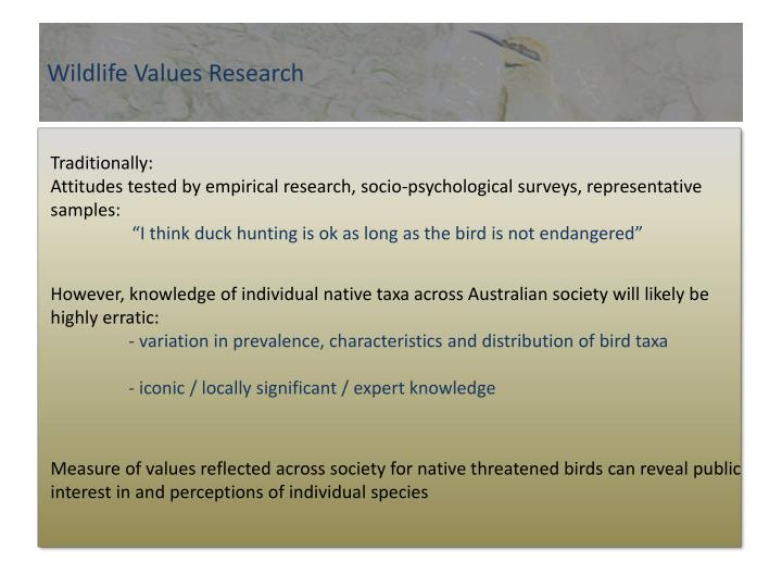 Wildlife Values Research