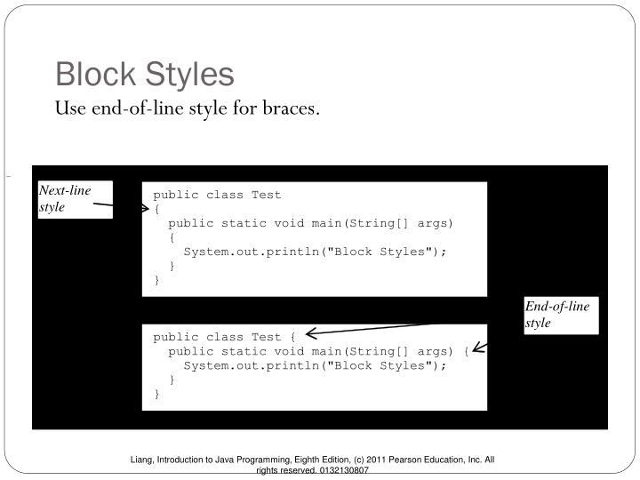 Block Styles