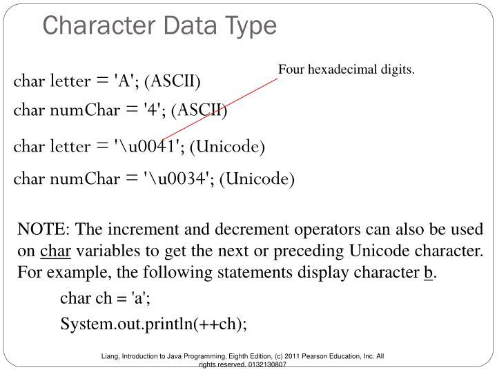 Character Data Type