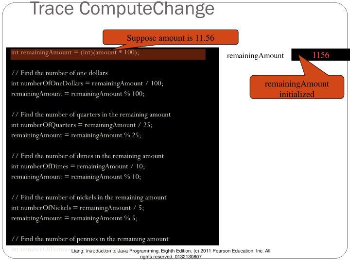 Trace ComputeChange