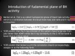 introduction of fudamental plane of bh activity