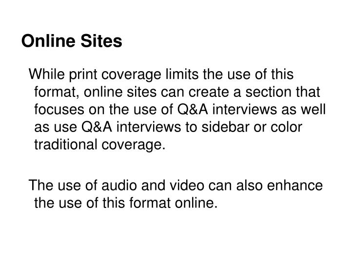 Online Sites