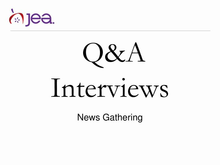 Q&A Interviews