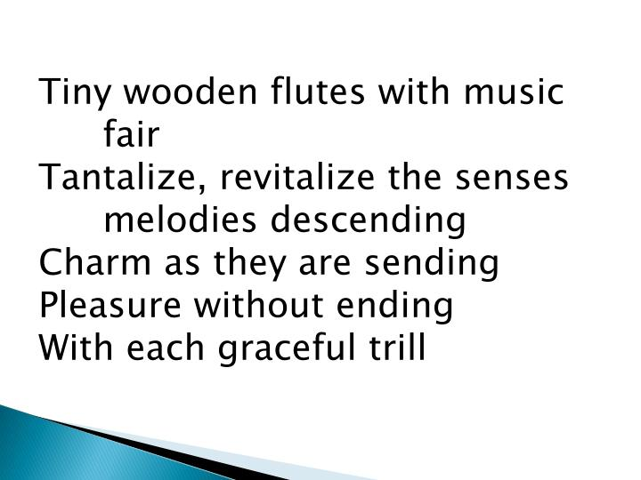 Tiny wooden flutes with music