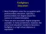 firefighters education