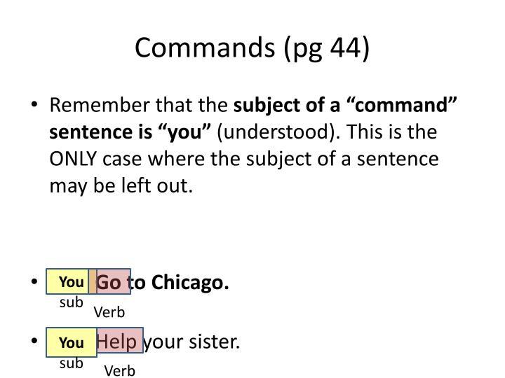 Commands (pg 44)