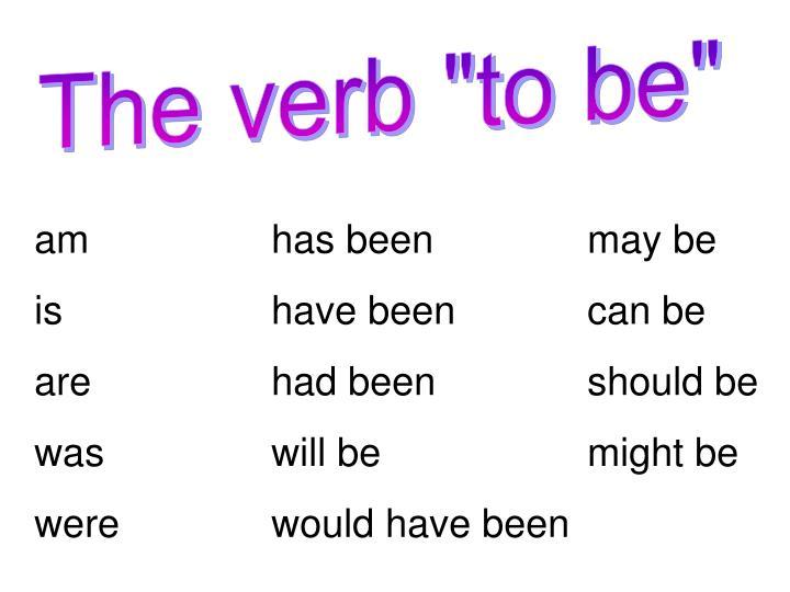 """The verb """"to be"""""""