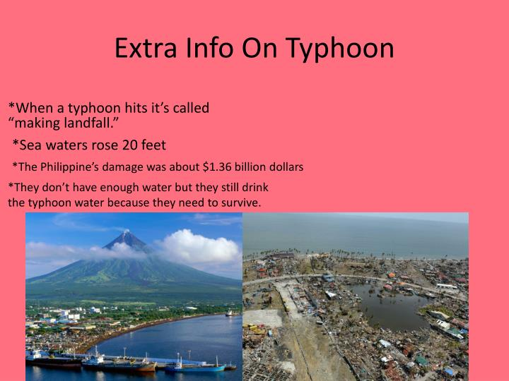 Extra Info On Typhoon