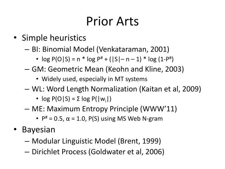 Prior Arts