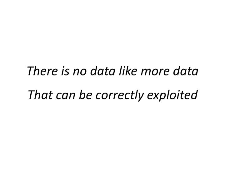 There is no data like more data