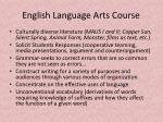 english language arts course