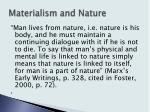 materialism and nature1
