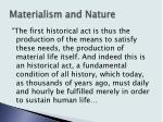 materialism and nature5