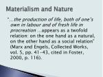 materialism and nature6