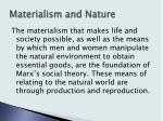 materialism and nature7