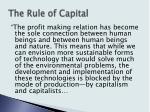 the rule of capital18