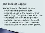 the rule of capital8
