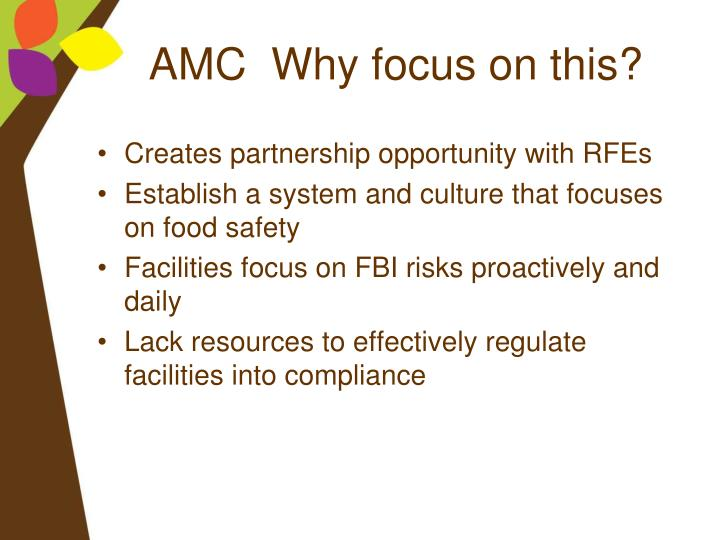 AMC  Why focus on this?