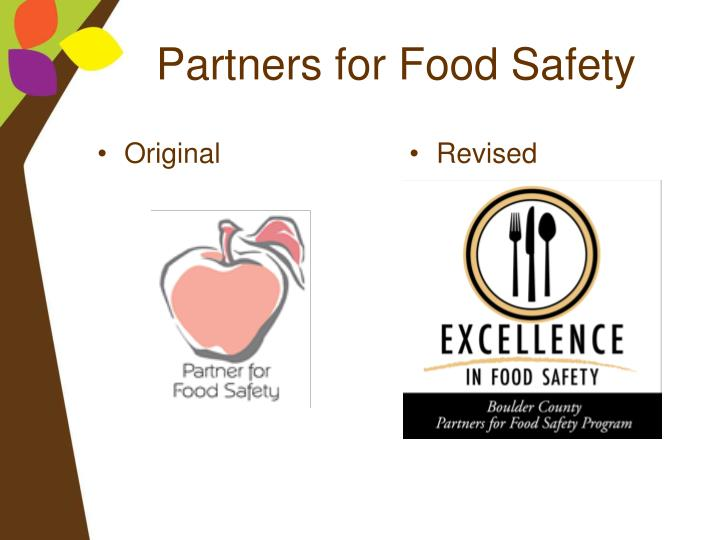 Partners for Food Safety