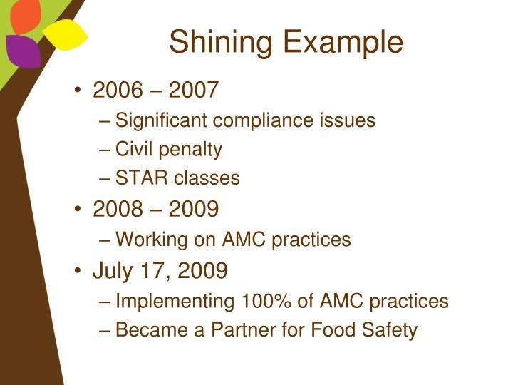 Shining Example