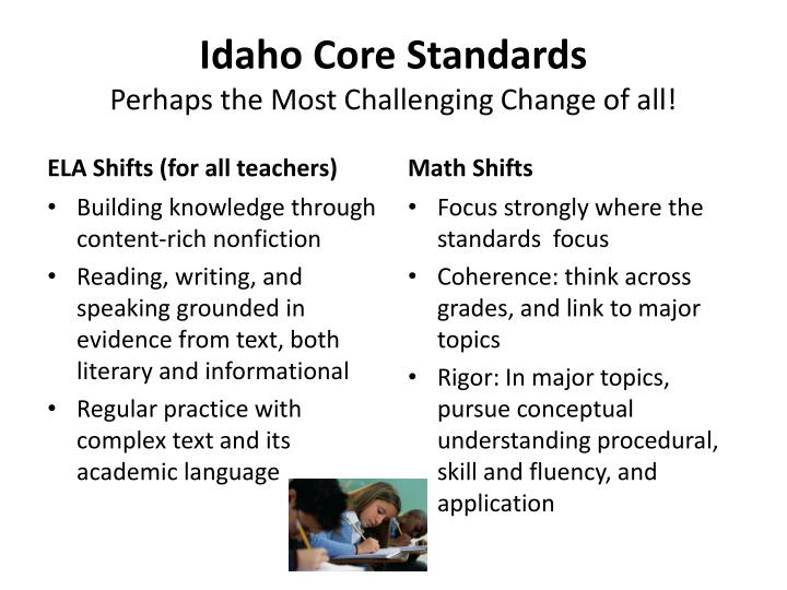 Idaho Core Standards