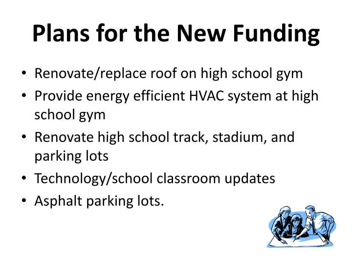 Plans for the New Funding