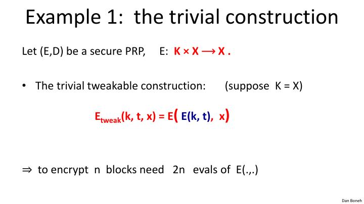 Example 1:  the trivial construction