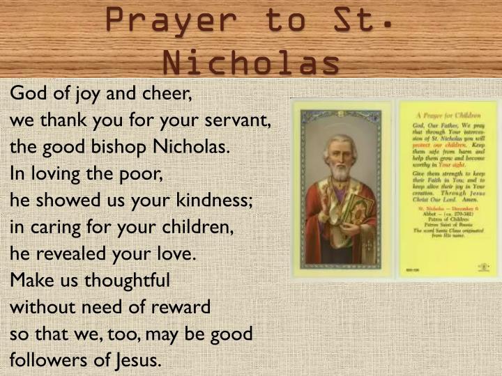 Prayer to St. Nicholas