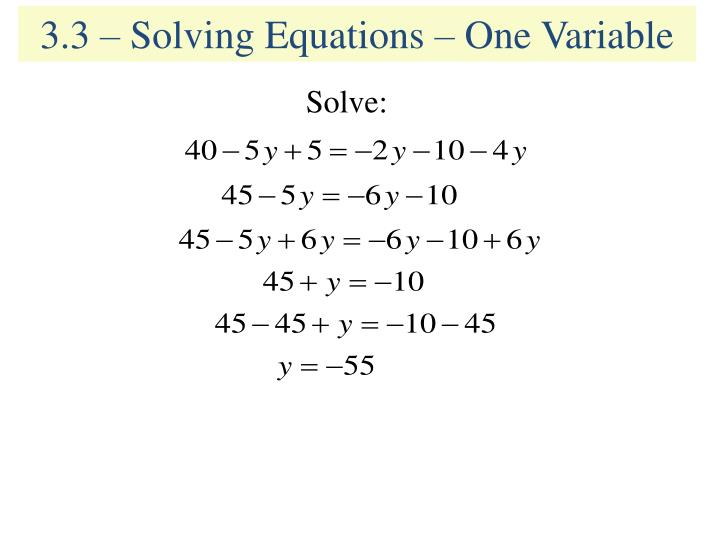 how to solve 3 simultaneous equations with 3 variables