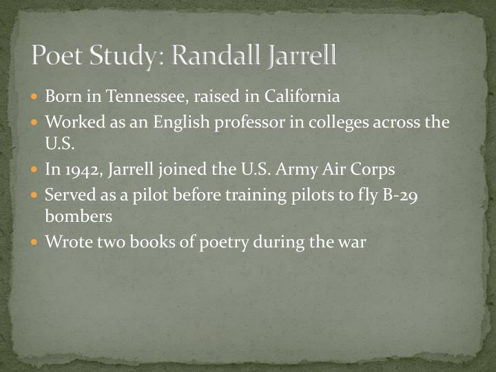 Poet Study: Randall Jarrell