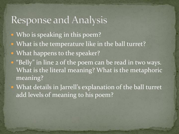 Response and Analysis
