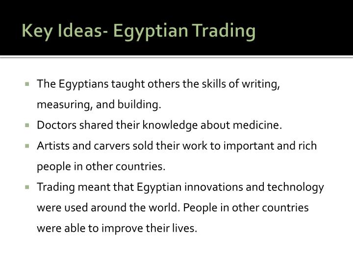 Key Ideas- Egyptian
