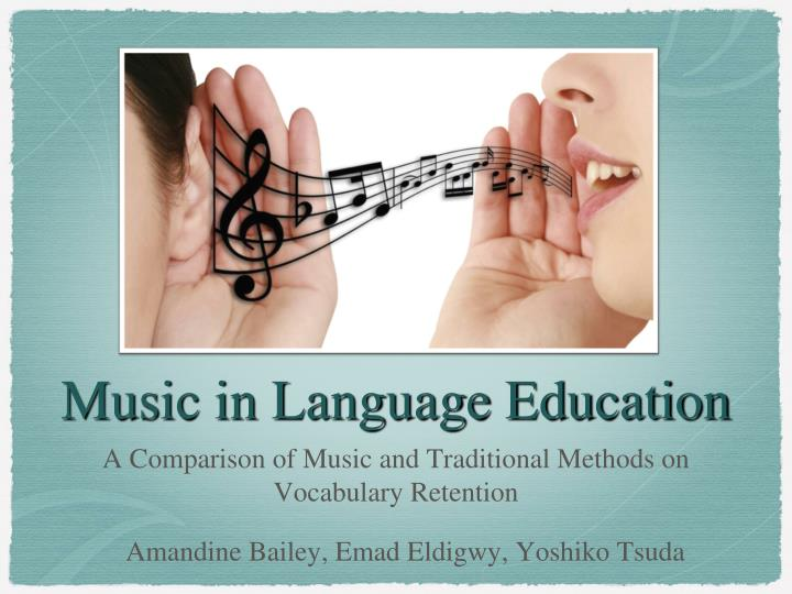 Music in language education
