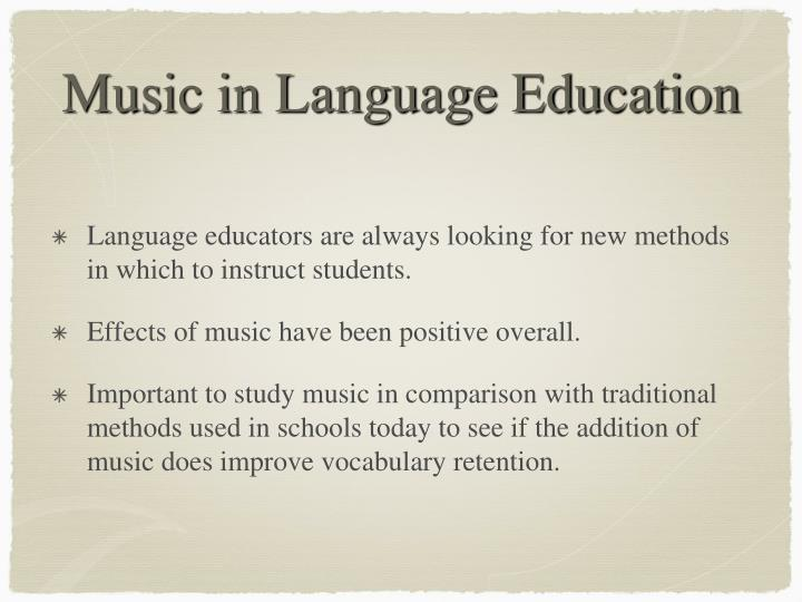 Music in language education1