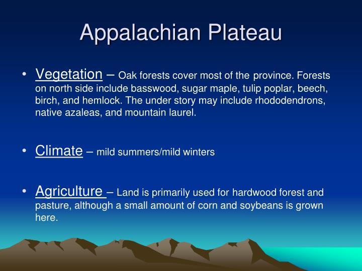 Appalachian Plateau