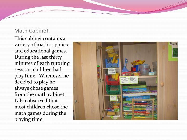 Math Cabinet