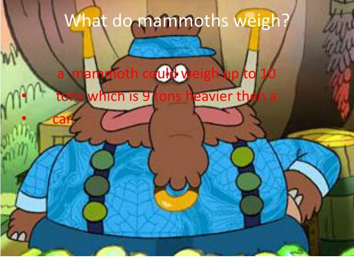 What do mammoths weigh?