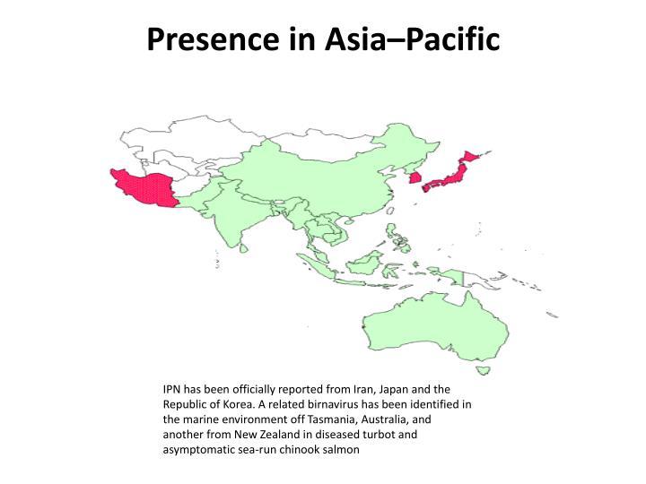 Presence in Asia–Pacific