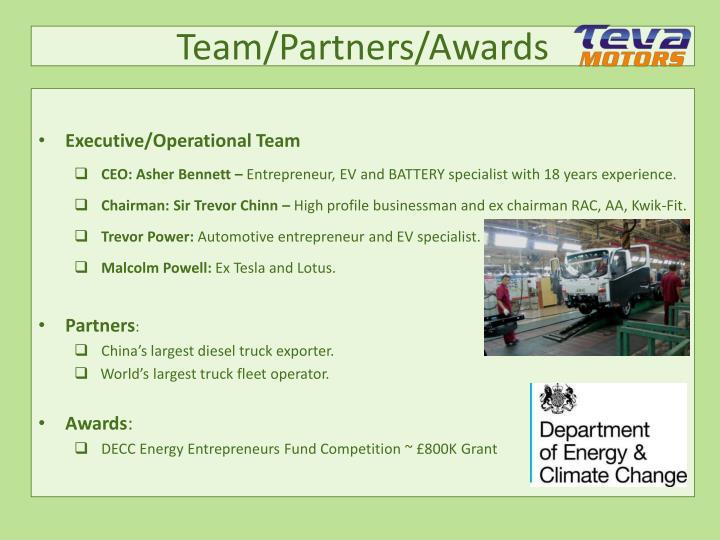 Team/Partners/Awards